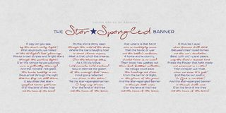 The United States of America anthem - The Star-Spangled Banner. The USA National anthem words on paper background Stock Image