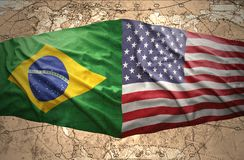 United States of America and Brazil Stock Photo