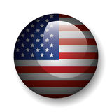 United states of america button emblem. Vector illustration design Stock Photography