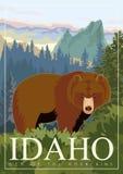 United States of America card. Idaho. USA banner. Idaho vector travel poster. United States of America card royalty free illustration