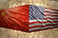 United States of America and China Stock Image