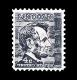 Abraham Lincoln stamp Royalty Free Stock Photos