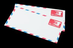 UNITED STATES OF AMERICA - CIRCA 1968: A old envelope for Air Mail. UNITED STATES OF AMERICA - CIRCA 1968: A old envelope for US Air Mail royalty free stock images