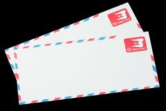 UNITED STATES OF AMERICA - CIRCA 1968: A old envelope for Air Mail. UNITED STATES OF AMERICA - CIRCA 1968: A old envelope for US Air Mail stock images