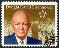 USA - 1990: shows Dwight David Eisenhower 1890-1969. UNITED STATES OF AMERICA - CIRCA 1990: A stamp printed in USA shows Dwight David Eisenhower 1890-1969, circa stock images