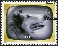 USA - 2009: shows Lassie, Early TV Memory. UNITED STATES OF AMERICA - CIRCA 2009: A stamp printed in USA shows Lassie, Early TV Memory, circa 2009 stock images