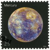 USA - 2016: shows The Mercury, series Views of Our Planets Stock Photos