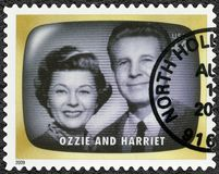 USA - 2009: shows Ozzie and Harriet, Early TV Memory. UNITED STATES OF AMERICA - CIRCA 2009: A stamp printed in USA shows Ozzie and Harriet, Early TV Memory royalty free stock photos