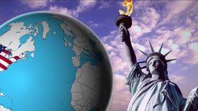 United States of America. Concept stock footage