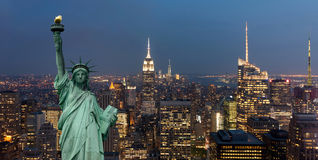 United States of America concept with statue of liberty concept Stock Images