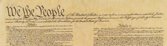 United States of America Constitution Royalty Free Stock Photos