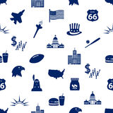 United states of america country theme icons seamless pattern eps10 Royalty Free Stock Photo