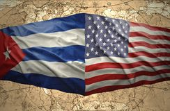 United States of America and Cuba Royalty Free Stock Photography