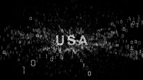 United States of America and cyberespionage.  stock footage