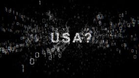 United States of America and cyberespionage.  stock video footage