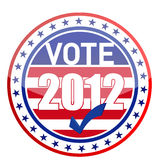 United States of America Elections pins. Illustration Stock Images