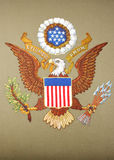 United States of America Emblem. Emblem on seat of the United States of America at the permanent court of arbitration at The Hague, Netherlands white isolated Royalty Free Stock Photography
