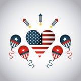 United states of america emblem Royalty Free Stock Image