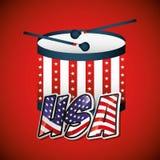 United states of america emblem Stock Image