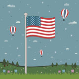 United states of america flag Royalty Free Stock Photo