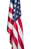 United States of America flag. American flag shot by itself on white Royalty Free Stock Images
