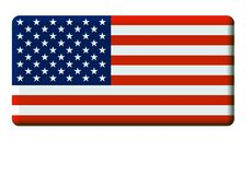 United States of America Flag. Flag of the United States of America; graphic image with rounded corners Royalty Free Illustration