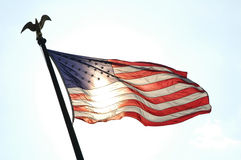 The United States of America flag. That was taken in Washington DC royalty free stock photo