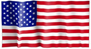 United States of America Flag. Wavy United States of America Flag Stock Photography