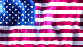 United States of America Flag Animation stock video footage