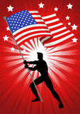 The United States of America Flag Bearer Stock Images