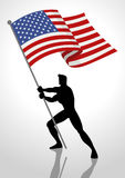 The United States of America Flag Bearer Stock Photography
