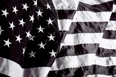 United States of America flag in black and white Stock Photos