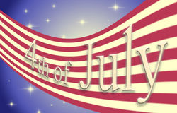 United states of america flag with the date 4th of july Royalty Free Stock Photo