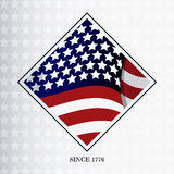 United states of america flag design. United states of america flag. usa landmark and patriotic icon. Colorful and frame design. Vector illustration Royalty Free Stock Images