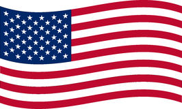 United States of America flag Royalty Free Stock Photography