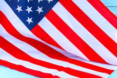 United States of America flag. Image of the american flag. Flying in the wind Royalty Free Stock Images