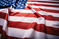 United States of America flag. Image of the american flag flying in the wind stock photography