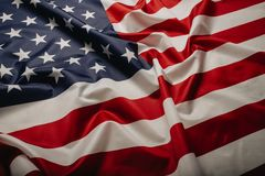 United States of America flag. Image of the american flag flying in the wind royalty free stock image