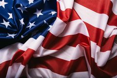 United States of America flag. Image of the american flag flying in the wind stock image
