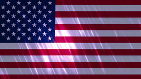 United States of America Flag Loopable Background. Ultra HD, 3840x2160 Pixels, Seamlessly Loopable Flag Animation stock video