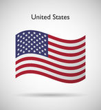 United States of America flag Royalty Free Stock Photo