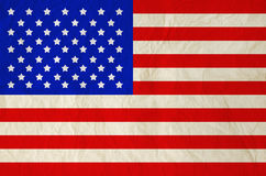United States of America flag on old vintage paper Royalty Free Stock Photos