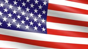 United States of America  flag. Waving, animation stock video footage