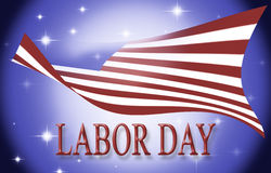 United states of america flag with the words Labor day Stock Photography