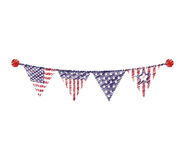 United states of america garland Royalty Free Stock Images