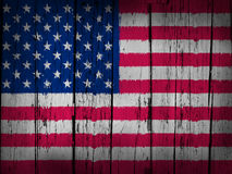 USA Flag Grunge Background Stock Image