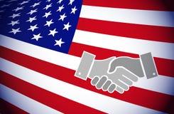 United states. america handshake concept Royalty Free Stock Photography