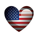 United states of america heart emblem. Vector illustration design stock illustration