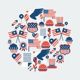 United States of America Independence Day greeting Stock Photo