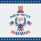 United States of America Independence Day greeting Stock Photography